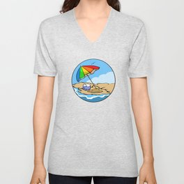Summer Umbrella Unisex V-Neck