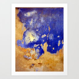 Blue Ruin Art Print