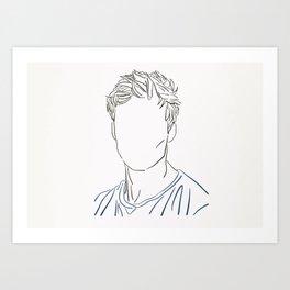 Bradley James Art Print