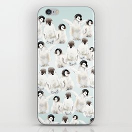 Playful Penguin Chicks - Watercolor Painting iPhone Skin