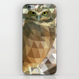 Burrowing Owl - Low Poly Technique iPhone Skin