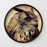 elmo Wall Clocks featuring Elmo V by Astrid Ewing