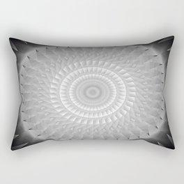 Gray Kaleidoscope Art 2 Rectangular Pillow