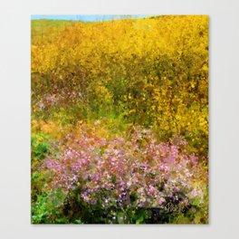Wildflowers, San Simeon CA Canvas Print