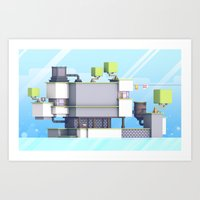 fez Art Prints featuring FEZ (Group Zine) by Timothy J. Reynolds