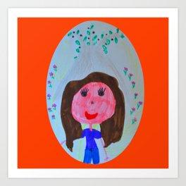 Elisavet loved the olive tree Art Print