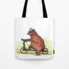 Bear Bike Tote Bag