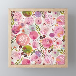 Pink Bubble for a Happy Spring Framed Mini Art Print