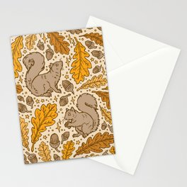 Oak & Squirrels | Autumn Yellows Palette Stationery Cards