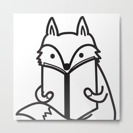 Cozy Fox Metal Print