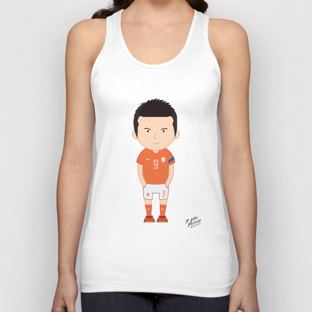 Robin Van Persie - Netherlands - World Cup 2014 Unisex Tank Top by Toonsoccer TNK9019159