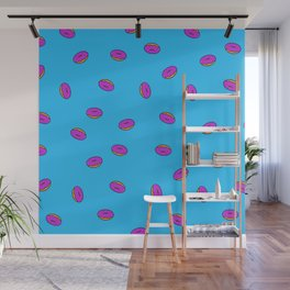 Donut Pattern Wall Mural