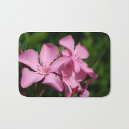 Pink Oleander Blossom Bath Mat