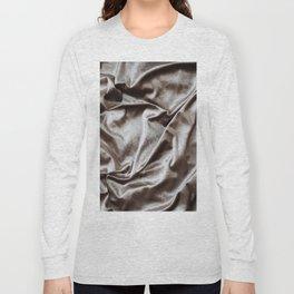 WOKE UP LIKE THIS - abstract luxury shiny texture, modern, monochrome Long Sleeve T-shirt