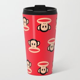 Julius Monkey Pattern by Paul Frank - Red Travel Mug