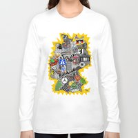 germany Long Sleeve T-shirts featuring Germany Doodle by Rebecca Bear