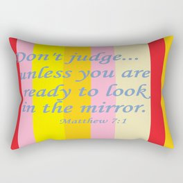 Don't Judge! Rectangular Pillow