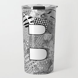 Cutout Letter B Travel Mug