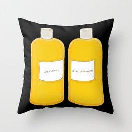 Shampoo & Conditioner (black) Throw Pillow