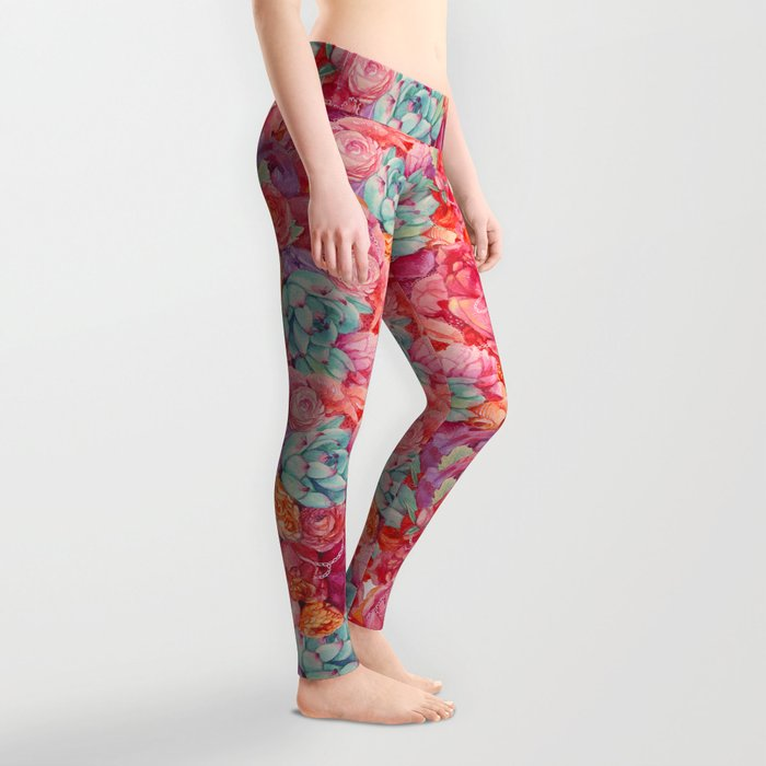Summer bouquet Leggings