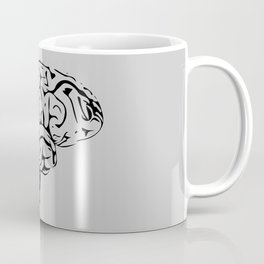 Braaains (black on grey) Coffee Mug