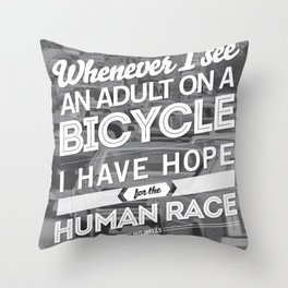 Hope For The Human Race Throw Pillow