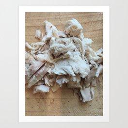 Shredded Chicken Art Print