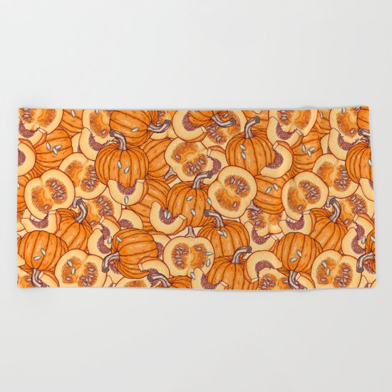 pumpkin dream Beach Towel