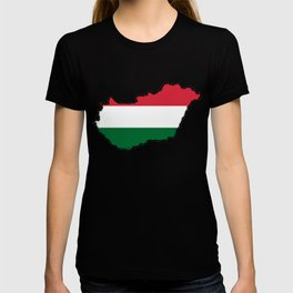 Hungary Map with Hungarian Flag T-shirt