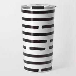 Hand drawn pattern black and white Travel Mug