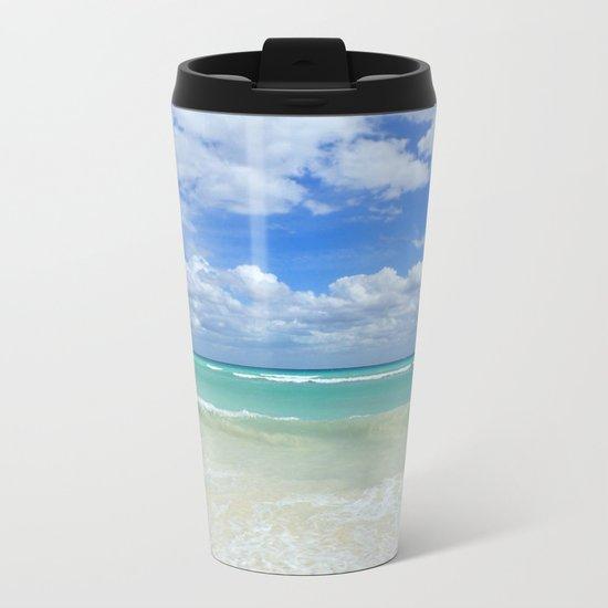 Playa Del Carmen Beach Metal Travel Mug