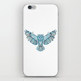 Flying Colorful Owl Design iPhone Skin