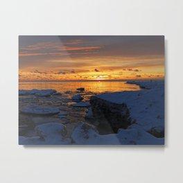 Pere Marquette Beach, Muskegon, MI Metal Print