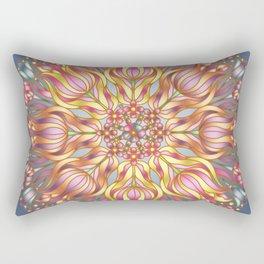 Tulip Mandala Rectangular Pillow