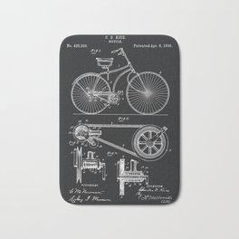Vintage Bicycle patent illustration 1890 Bath Mat