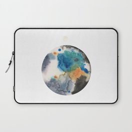Blue, Black, Tan and Silver Planet Painting Laptop Sleeve