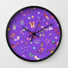 girls Life, lilac Wall Clock
