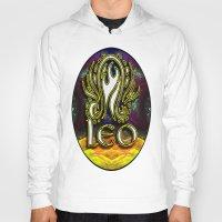 astrology Hoodies featuring Leo Zodiac Sign Astrology by CAP Artwork & Design