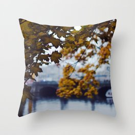 Autumn Nostalgia in Berlin Throw Pillow