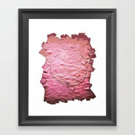 Smile on a pink toilet paper 2 Framed Art Print