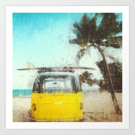 Surf Van Life Art Print