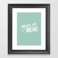 Make Do & Mend Framed Art Print