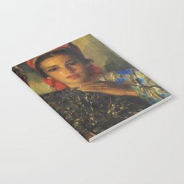 "African American Masterpiece ""Women Arranging a Bouquet of Flowers' by Jose Cruz Herrera Notebook"