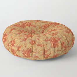 The Skull the Flowers and the Snail CoLoR Floor Pillow
