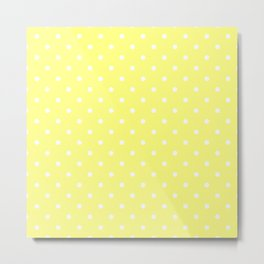 Butter Yellow Polka Dots Metal Print