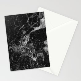 Black and Gray Marble Pattern Stationery Cards