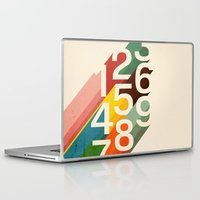 budi Laptop & iPad Skins featuring Retro Numbers by Picomodi