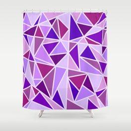 Purple Shards Geometric Pattern Shower Curtain