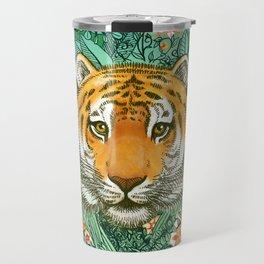 Tiger Tangle in Color Travel Mug