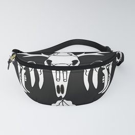 Vector sketch illustration animal skull. Drawing by hand. Boho style. Fanny Pack